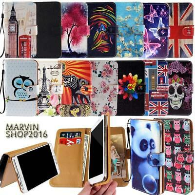 Leather Wallet Card Stand Flip Case Cover For Various BLU SmartPhones