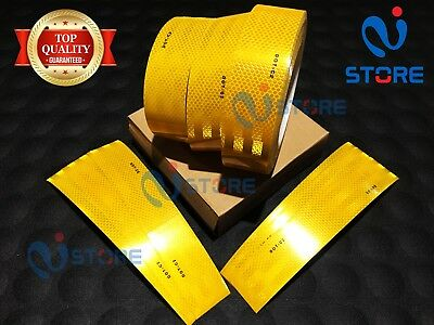 15 Ft Yellow DOT-C2 Conspicuity Reflective Tape Safety Warning Truck Bus Car RV