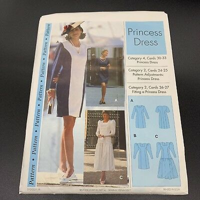 Vintage Sewing Step-by-Step Pattern Misses Miss Petite Princess Dress Sizes 4-22