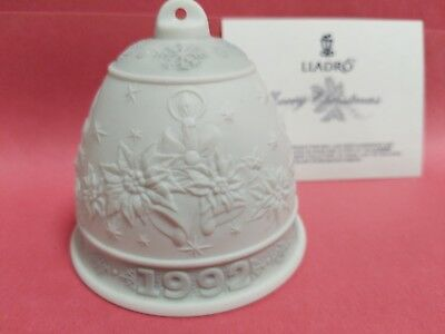 Lladro 1992 Porcelain Christmas Bell # 15913 New In Box
