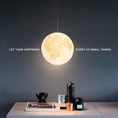 3D Printing Moon Lamp USB LED Night Light Moonlight Remote Touch Color Changing