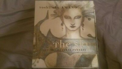 The Sky: The Art Of Final Fantasy. Yoshitaka Amano. SIGNED. Rare. Complete.