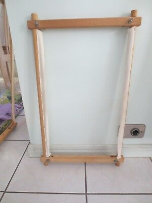 Craft Tapestry Embroidery Long Stitch Wooden Working Frame 51Cm Adjustable