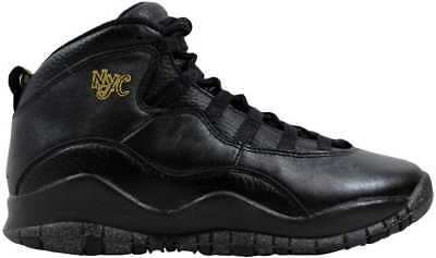 huge selection of d2a80 51522 Nike Air Jordan X 10 Retro BG Black Grey-Metallic Gold NYC 310806-