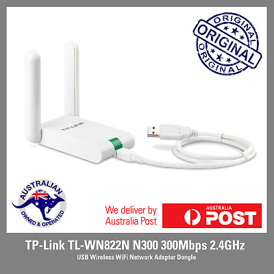 TP-Link TL-WN822N N300 300Mbps 2.4GHz USB Wireless WiFi Network Adapter Dongle
