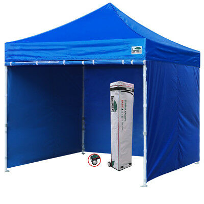 10x10 Ez Pop Up Canopy Outdoor Instant Party Tent W/Full Side Walls+Wheeled bag