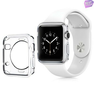 For Apple Watch Series 1 42mm Ultra Thin Clear Soft TPU Protective Bumper Case