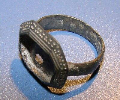 Ancient bronze BIG ring  Middle Ages. Оriginal.