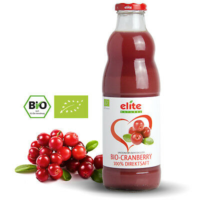 (7,38€/l)6x700ml Bio Cranberry Direktsaft, Cranberrysaft, Muttersaft,Herb-Sauer