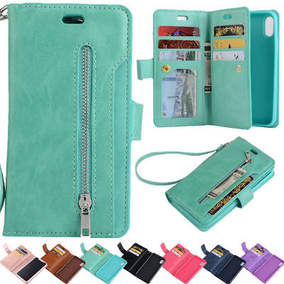 For Huawei Mate 20 Lite P20 Pro Shockproof Card Holder Hard Wallet Case Cover