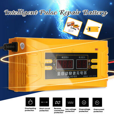 12V Electric Car Dry&wet Battery Charger Intelligent Pulse Repair 110-240v
