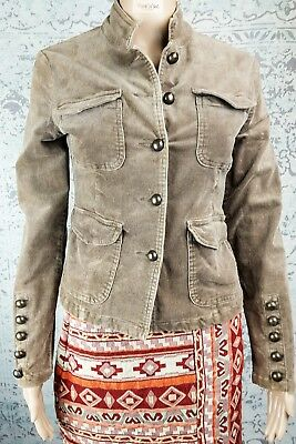 fbe02fcec0a JOJOTO CORDUROY MILITARY Jacket Outerwear Winter AU 8 10 Womens Boho Chic -   4.50