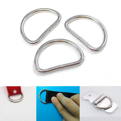 100PCS Heavy Duty Non Welded D Rings, Buckles for Webbing Hand Bags Leather 25MM