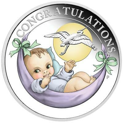 Australien 50 Cents 2019 Storch New Born Baby 1/2 Oz Silber PP