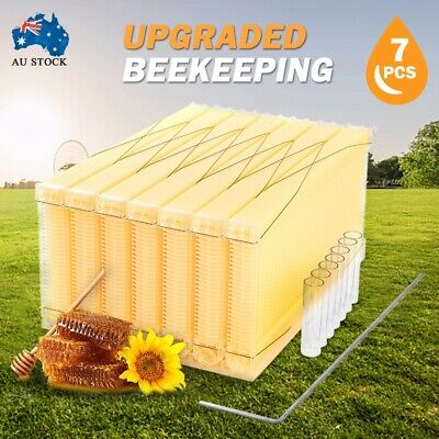 7PCS Upgraded Auto Run Honey Beekeeping Beehive Bee Comb Hive Frames Harvesting