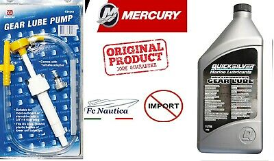 Kit Olio Piede Quicksilver High Performance Gear Lube +Pompa Manuale