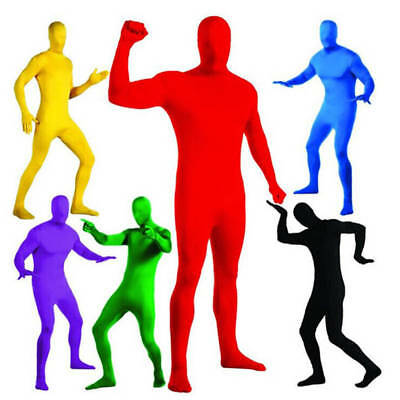 Men Women Spandex Invisible Morph Suit Full Body Party Cosplay Costume Dress