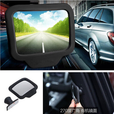 1x Car SUV Baby Rear-view Blind Spot Mirrors Wide Angle Exterior Backseat Mirror