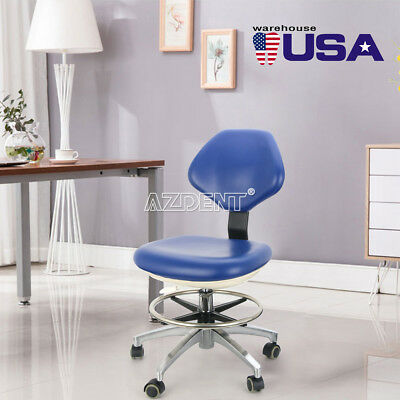 USA Dental Doctor Assistant Rolling Stools Adjustable Height Mobile Chair PU