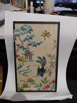 Embriodered Framed Picture chinese design
