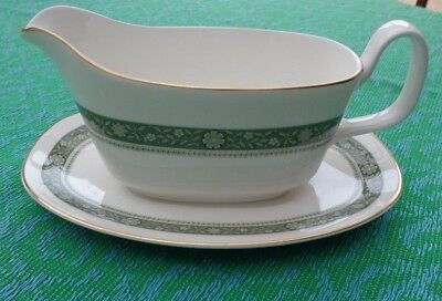 Royal Doulton Rondelay Pattern Gravy Boat And Plate Stand