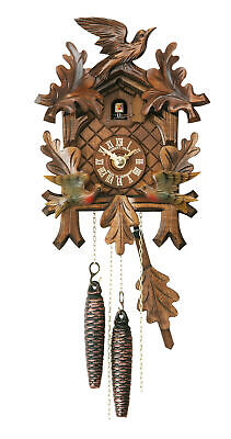 Cuckoo Clock Five Leaves, moving birds HH 302/1/3 V NEW