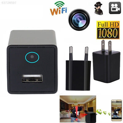 A4DF Wifi Charger Adapter Wireless Hidden Spy Camera Cam Camcorder Vedio M4