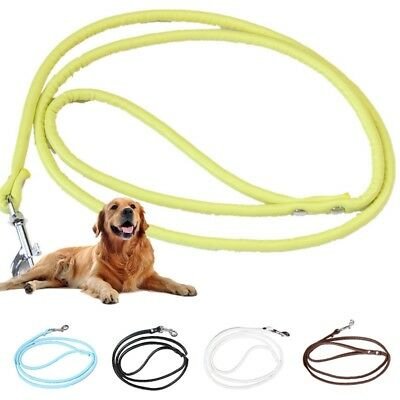 Dog Leash Puppy Training Walking Strong Traction Rope Faux Leather Leading Strap