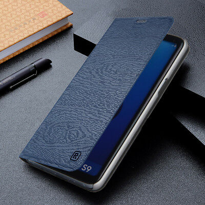 For Samsung Galaxy S9 S8 Plus Note 8 Business Leather Flip Wallet Case Cover