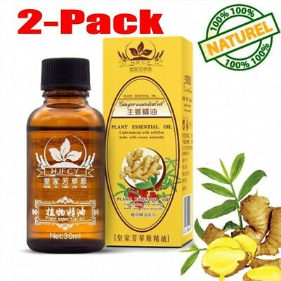 2-Pack 30ml Plant Therapy Lymphatic Drainage Ginger Oil [ 100% Natural ]  new