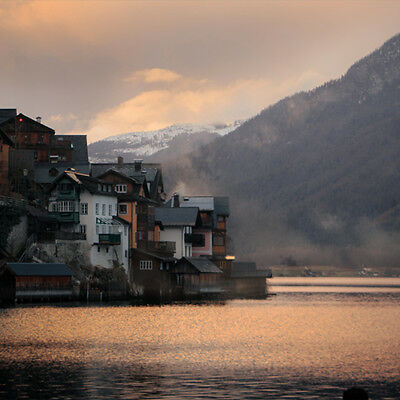 Digital Photo Picture Image Art Wallpaper - Mountain Sea Landscape Hallstatt #1