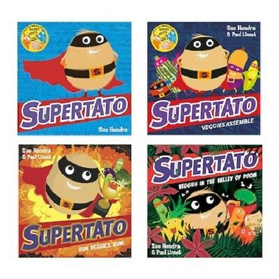 Supertato Collection 4 Books Set.Sue Hendra, Supertato Veggies Assemble Run Doom
