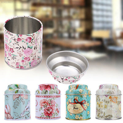 A2BC Portable Small Tinplate Tea Candy Storage Case Sealed Bins Holder Home Offi