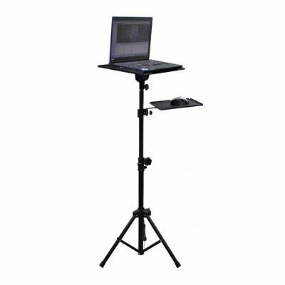 Steel Portable Adjustable Laptop Computer Tripod Stand DJ Office + Mouse Shelf