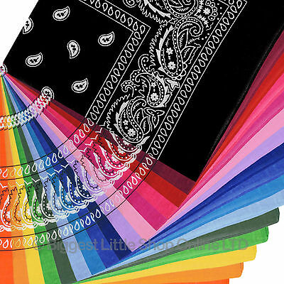 NEW Mens Ladies Classic Paisley Bandana/Bandanna Head Scarf/Bikers Urban Wear