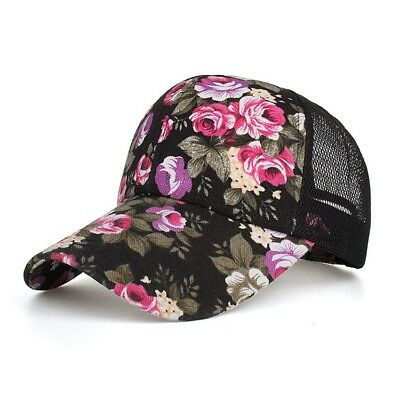 Baseball Cap Mesh Youth Trucker Hat Womens Girl Floral Snapback Summer By AKIZON