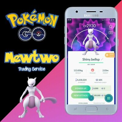 Mewtwo Pokémon Go - 100% Safe Trade -  Caught by hand