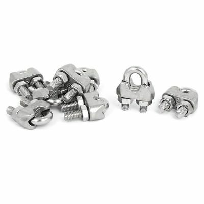 M6 1/4 Inch 304 Stainless Steel U-Shape Bolt Saddle Clamps Cable Wire Rope E9C1