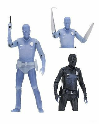 """Terminator 2 - 7"""" Scale Action Figure - Kenner Tribute - White Hot T-1000 - NECA"""
