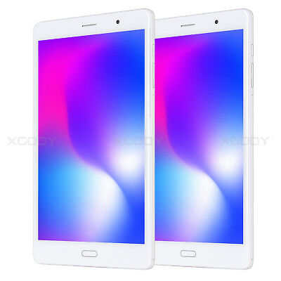 """XGODY Android 6.0 4G LTE 8"""" HD 16GB Tablet PC Phablet Bluetooth Type-c GPS White"""