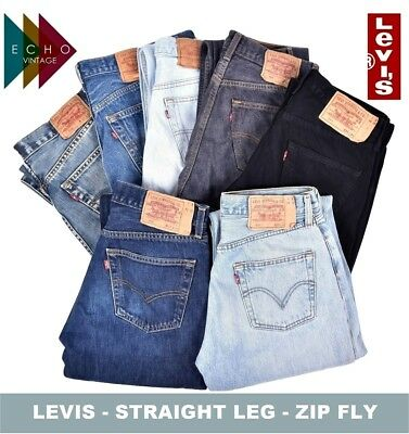 Vintage Levi Jeans Mens Straight Leg Zip Fly Denim Levis 505 506 514 751 Levis