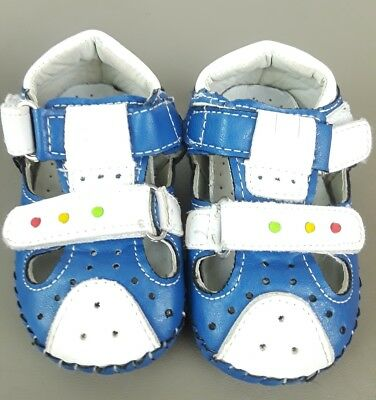 Baby YTOP Japanese Bumble Bee Star Blue & White Sneaker Shoes- Size 15