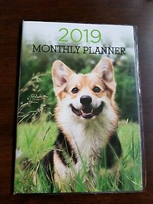 Pembroke Welsh Corgi Dog 2019 monthly calendar planner.