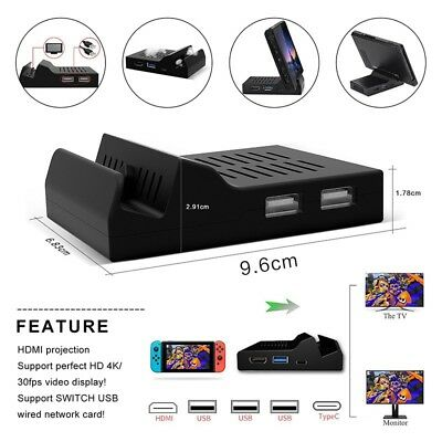 Mini Charging Dock Base HDMI Converter TV Display for Nintendo Switch Chip Board