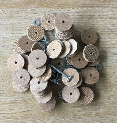 21mm Teddy Bear Cotter Pin Joints (hardboard) x 25 pins & 50 disks (for 5 bears)