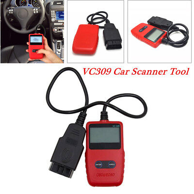 "4.30""x2.63""x0.69"" EOBD OBDII Car Scanner Code Reader Engine Diagnostic Kit VC309"