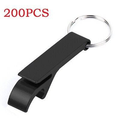 200x Bottle Opener Key Ring Chain Keyring Keychain Aluminum Beer Bar Tools Claw