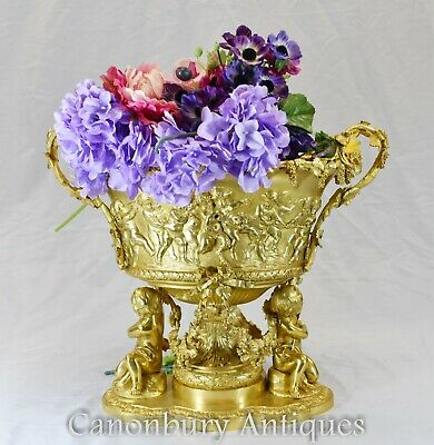 French Louis XV Ormolu Centrepiece Tureen Dish Bowl Cherub Planter