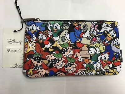Disney Loungefly Donald Duck And Nephews Pencil Case/Makeup Pouch