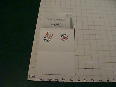 Original vintage paper: 1957 application for SINCLAIR GAS CREDIT CARD unused
